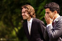 i love this shot of the groom seeing the bride <3