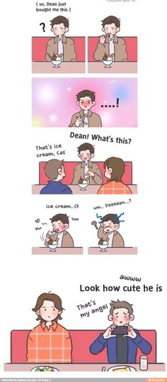 I cannot even handle how cute the idea of Cas and ice cream is