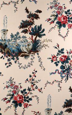 vintage rose englische landhaus satin bord ren blumen art nr b07573 tapeten vintage rosen. Black Bedroom Furniture Sets. Home Design Ideas