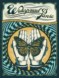 Knoxville poster for Widespread Panic by Justin Helton