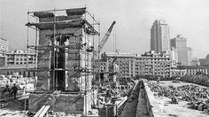 Reconstrucción templo de Debod.