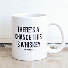 Whiskey Coffee Mug by Jac Vanek