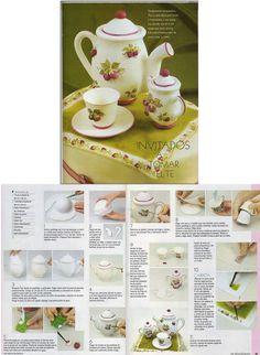 Teapot set.  Tutorial source: www.facebook.com/...