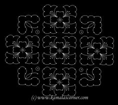Put 18 parallel dots 6 lines. Leave 2 dots at both ends and put 4 lines. Then leave 4 dots at . Easy Rangoli Designs Videos, Indian Rangoli Designs, Rangoli Designs Flower, Rangoli Border Designs, Small Rangoli Design, Rangoli Patterns, Rangoli Ideas, Rangoli Designs With Dots, Rangoli Designs Images