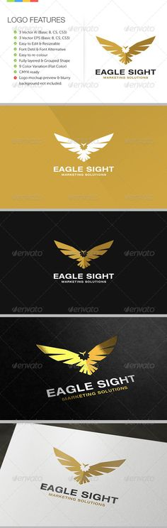 Eagle Sight  Logo Design Template Vector #logotype Download it here: http://graphicriver.net/item/eagle-sight-logo/6190935?s_rank=271?ref=nexion