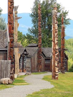 Ksan Village, Old Hazelton, British Columbia, Canada by lens gazer, via Flickr. More travel highlights of #BCHwy16: http://tranbc.ca/2012/09/26/the-trans-canada-less-travelled-highway-16/