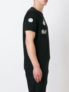 Moncler футболка с принтом наклеек