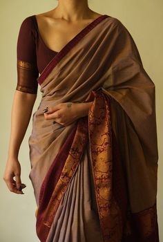 Cotton Saree Designs, Silk Saree Blouse Designs, Fancy Blouse Designs, Trendy Sarees, Stylish Sarees, Indian Bridal Fashion, Indian Fashion Dresses, Designer Blouse Patterns, Dress Indian Style