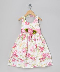 Take a look at this White & Pink Blossom Halter Dress - Toddler & Girls by the Silly Sissy on #zulily today!