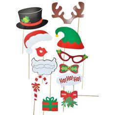 Χριστουγεννιάτικα αξεσουάρ για διασκεδαστικές φωτογραφίες. ΜήκοςxΠλάτος: 32x20 εκ.