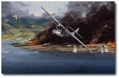 AVIATION ART HANGAR - Lone Survivor by Jack Fellows (PBY Catalina)