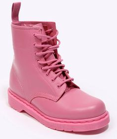 Martens Pink Monochrome 1460 Boots so cute probaly couldn't wear them but they wold look good just sitting by the door ! Dr. Martens, Dr Martens 1460, Pink Boots, Everything Pink, Kinds Of Shoes, Jimi Hendrix, Pretty In Pink, Me Too Shoes, Rihanna