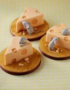 Original idea rebanadas de pastel de fondan!