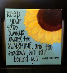 Sunflower Sunshine Quote by RoseberryCanvas on Etsy