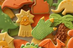 Triceratops Face Cookies