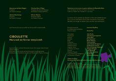 Carton d'invitation Ciboulette de Reynaldo Hahn pour l'Opéra Comique à Paris (création : Kanta Desroches)