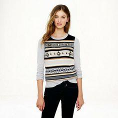 jeweled fair isle sweater