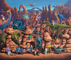 Dinosaur Games by Eric Dowdle now available as a Dowdle Puzzle at DowdlePuzzles.com