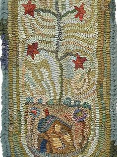 Feather Tree Pattern PDF for rug hooking and by primitivespirit