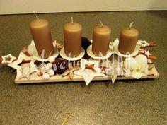 Adventní svícen č. 240 | kvetinove-studio.cz Pillar Candles, Advent, Studios, Candles