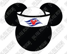 Mickey Mouse Sailor Hat Cut File Set in SVG, EPS, DXF, JPEG, and PNG