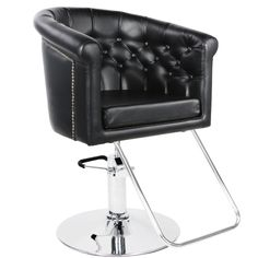 Our hair salon chairs, equipment and furniture packages are affordable and stylish. Our warehouse stocks barber chairs, salon styling stations, and beauty supplies for salons and spas. Hair Salon Chairs, Salon Styling Chairs, Hair Salon Interior, Home Salon, Makeup Storage Cart, Small Salon, Beauty Salon Equipment, Salon Design, Salons