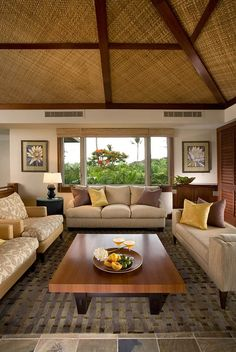 Enjoy Your Experience at the Paradise of Hawaii in Your Own Private Villa! Enjoy Your Experience at the Paradise of Hawaii in Your Own Private Villa! Filipino Interior Design, Interior Design Living Room, Living Room Decor, Living Rooms, Casas Country, Philippine Houses, Balinese Decor, Tropical Interior, Bamboo House
