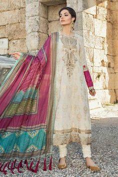 Maria B Lawn Collection 2019 Best Pakistani Designer Summer Dresses Pakistani Designer Suits, Pakistani Dress Design, Indian Designer Outfits, Pakistani Outfits, Indian Outfits, Designer Dresses, Pakistani Salwar Kameez, Shalwar Kameez, Anarkali