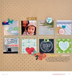 #papercraft #scrapbook #layout Amy Tangerine | Studio Calico Office Hours