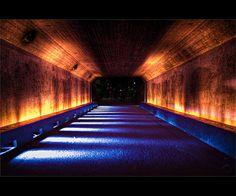 Warm vs cold colour temperature in a tunnel lighting.