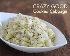 Okay, this is good, though probably not CRAZY good. Will do it again, not too much trouble. Hubs said that if he 'had to' eat cooked cabbage, this is a good way to do it.