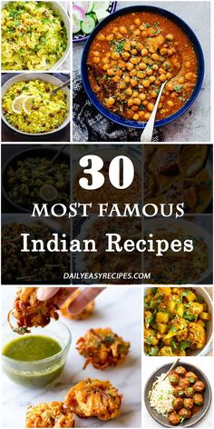 Let this article help, guys. It introduces 30 most famous Indian dishes that you should try once. Indian Food Recipes, Asian Recipes, Vegetarian Recipes, Cooking Recipes, Healthy Recipes, Comida India, Good Food, Yummy Food, Tasty