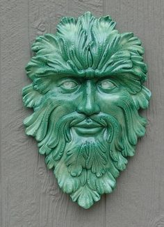@Wrede Greeson Greenman Garden Wallhanging by beardiepawpottery on Etsy, $36.00 ***looks like your tat!