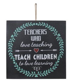 Escape To Paradise Wall Plaque-Teachers Love Teaching