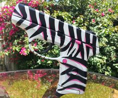 Ranger Point Precision Ruger LC9 (custom Pink and Black Zebra Stripe paint)