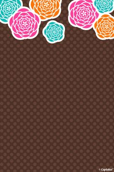 Brown / floral iphone wallpaper