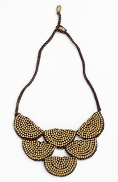 Panacea Beaded Rope Bib Necklace available at #Nordstrom