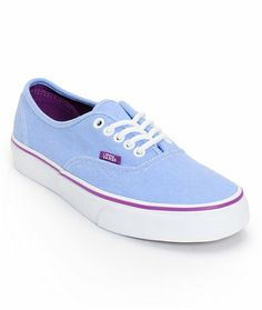 Vans Girls Authentic Blue Washed Twill Shoe
