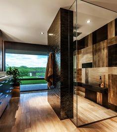 30 Dream Bathrooms with Breathtaking Views Un baño a lo Frank LLoyd