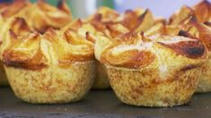 Kouign Amann ~ The Great British Baking Show . This kouign amann recipe is a Breton cake featured in The Great British Baking Show airing on PBS. Get the recipe at PBS Food. British Baking Show Recipes, British Bake Off Recipes, Baking Recipes, British Desserts, Scottish Recipes, French Desserts, Baking Ideas, The Great British Bake Off, Chefs