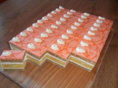 Pomarančovo - medové rezy, recepty, Zákusky   Tortyodmamy.sk Slovak Recipes, Czech Recipes, Oreo Cupcakes, Cake Cookies, Cake Recipes, Dessert Recipes, Mini Pastries, German Desserts, Delicious Desserts