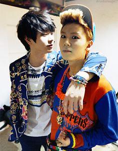 BTOB ♡ sungjae ilhoon It is like me at school when someone gets close....