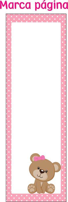 Separador                                                       … Scrapbook Bebe, Baby Girl Scrapbook, Imprimibles Baby Shower, Baby Shawer, Bear Party, School Items, Baby Album, Baby Cards, Party Printables