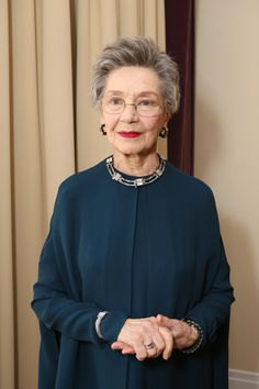 Actress Emmanuelle Riva wearing Duoplan Joaillerie vintage watch during the Oscars night in Hollywood