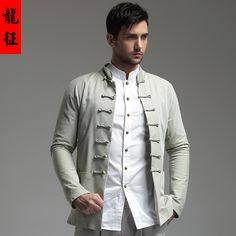Impressive Well-made Frog Button Chinese Jacket - Light Green - Chinese Jackets & Coats - Men