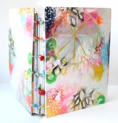 purplemailbox.com: Art. Paint. Journal. Play... Taming the Scraps with a Coptic Bound Junque Journal, Mail Art, and More!!!