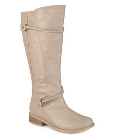 Look what I found on #zulily! Stone Harley Strap Wide-Calf Boot by Journee Collection #zulilyfinds