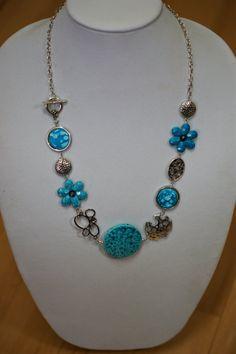 TURQUOISE collier LONG moderne de collier  par LesBijouxLibellule