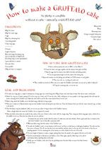 Gruffalo Cake official instructions
