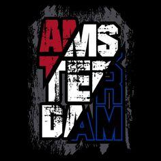Amsterdam Grunge T-shirt Men's Premium T-Shirt Amsterdam, Print Design, Logo Design, Text Design, Design Kaos, Grunge Guys, London Map, Puff And Pass, Vintage Typography